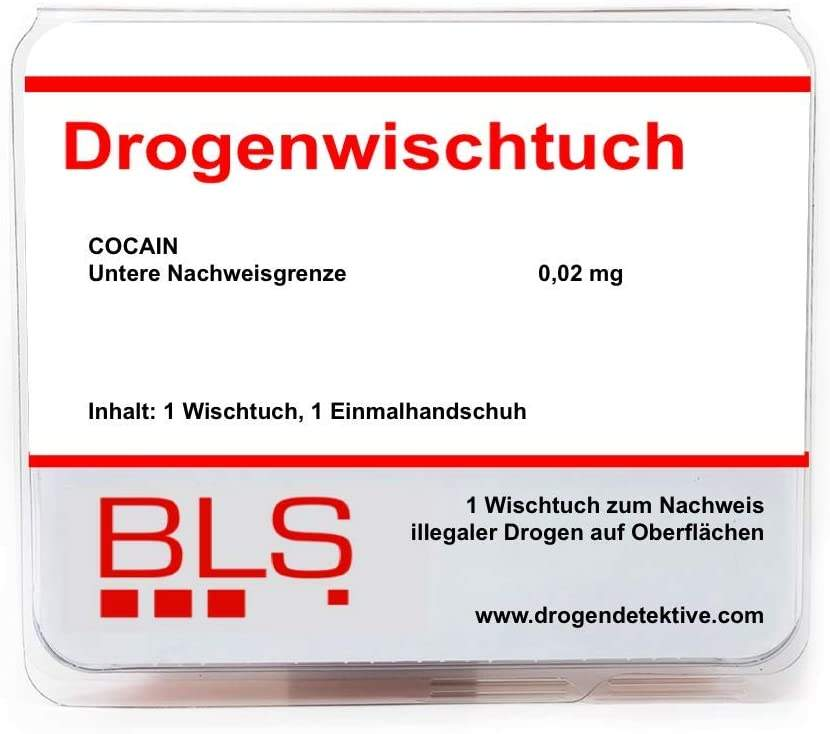 Drogenwischtuch - Cocain - Heimtest für Oberflächen